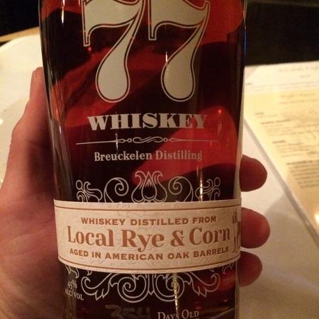 Breuckelen Distillery 77 Whiskey Distilled from Local Rye & Corn NV