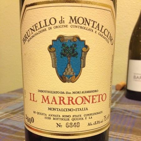 Il Marroneto Brunello di Montalcino Sangiovese 2000