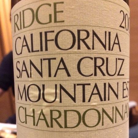 Ridge Vineyards Santa Cruz Mountain Chardonnay 2015