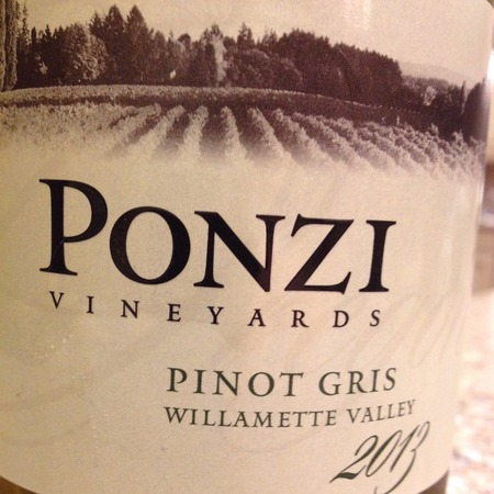 Ponzi Vineyards Willamette Valley Pinot Gris 2015