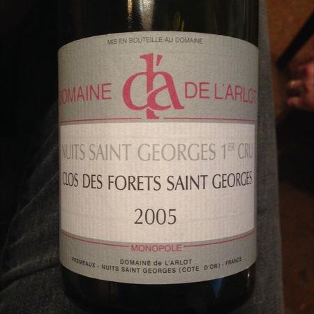 Domaine de L'Arlot Clos des Forêts St. Georges Nuits St. Georges 1er Cru Pinot Noir 2015