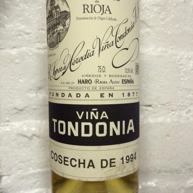 Viña Tondonia Gran Reserva Rioja Blanco Malvasia Viura 1994