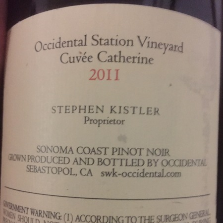 Occidental (Stephen Kistler) Cuvée Catherine Occidental Station Vineyard Pinot Noir 2011