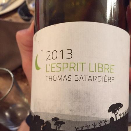 Thomas Batardière L'esprit Libre Anjou Chenin Blanc 2015