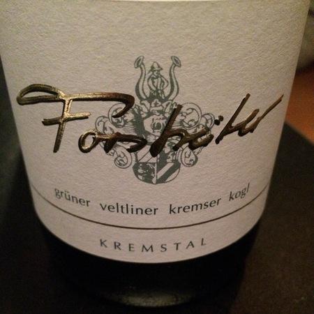 Weingut Meinhard Forstreiter Kremser Kogl Grüner Veltliner 2016