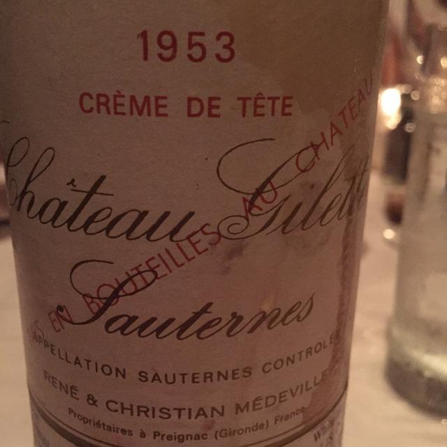 Crème de Tête Sauternes Sémillon-Sauvignon Blanc Blend 1953