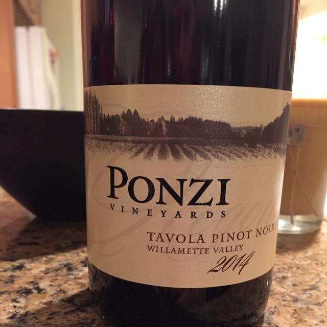 Tavola Willamette Valley Pinot Noir 2014
