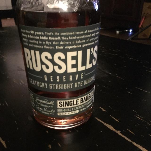 Single Barrel Kentucky Straight Rye Whiskey NV