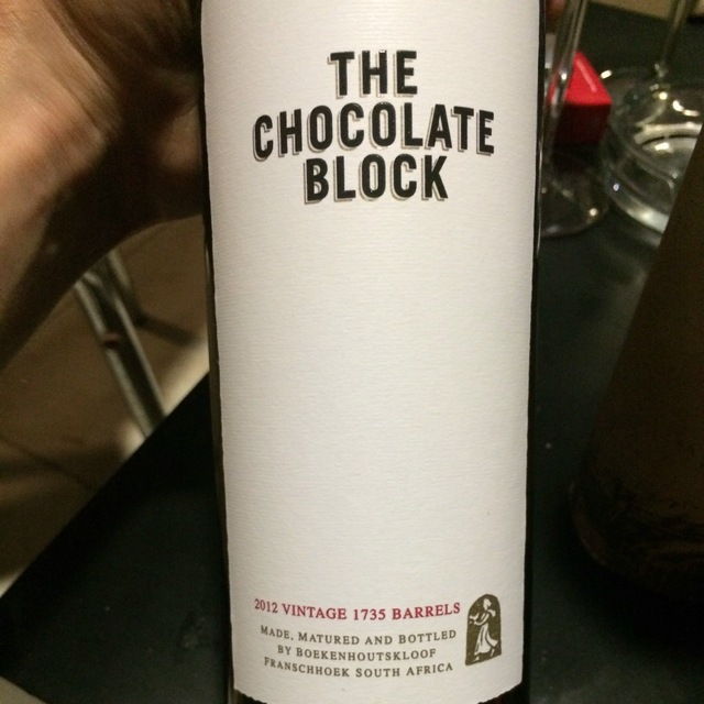The Chocolate Block Cinsault Blend 2012