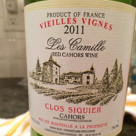 Clos Siguier Les Camille Vieilles Vignes Cahors Malbec 2014