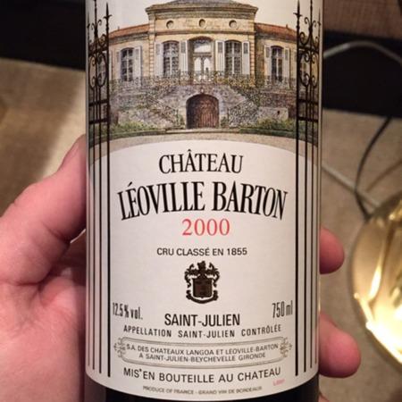 Château Léoville Barton Saint-Julien Red Bordeaux Blend 2000