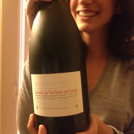 Cyril Zangs Cossais Qu'on Boit Un Coup Brut Cider  2015