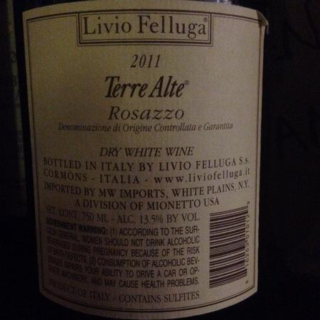 Livio Felluga Terre Alte Rosazzo Bianco Colli Orientali del Friuli 2011