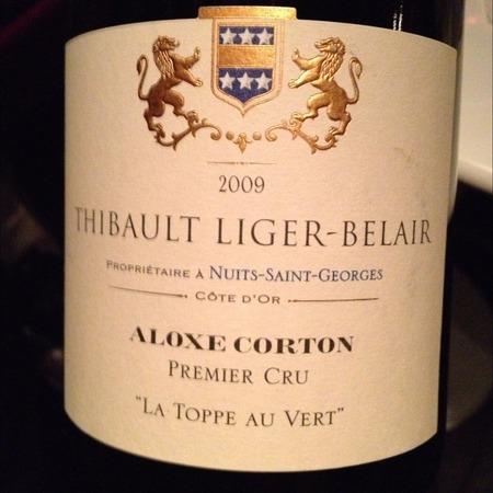 Thibault Liger-Belair La Toppe au Vert Aloxe-Corton 1er Cru Pinot Noir 2009