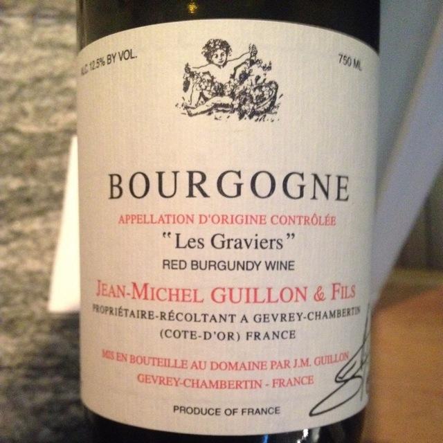 Les Graviers Bourgogne Pinot Noir 2013