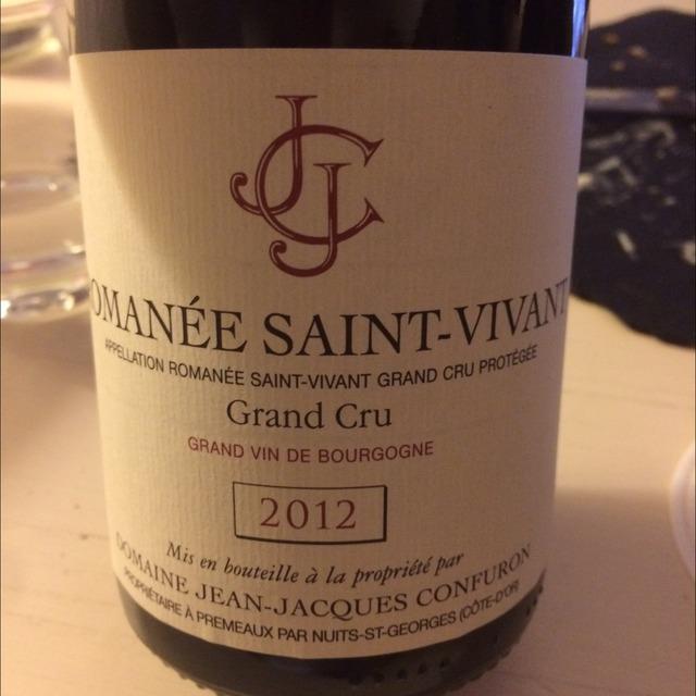 Romanée St. Vivant Grand Cru Pinot Noir 2012