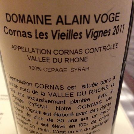Domaine Alain Voge Les Vieilles Vignes Cornas Syrah 2011 (1500ml)