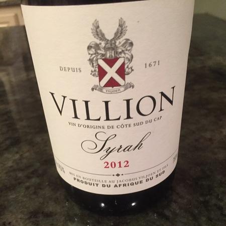 Villion Villion Syrah 2012