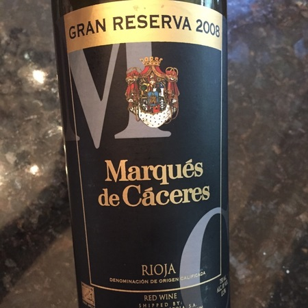 Marqués de Cáceres Gran Reserva Rioja Tempranillo 2008