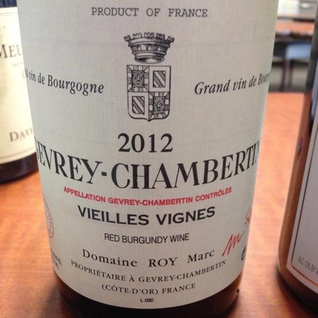 Domaine Marc Roy Vieilles Vignes Gevrey-Chambertin Pinot Noir 2014