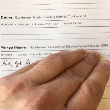 Weingut Kunstler Hochheimer Kirchenstück Kabinett Trocken Riesling 2015