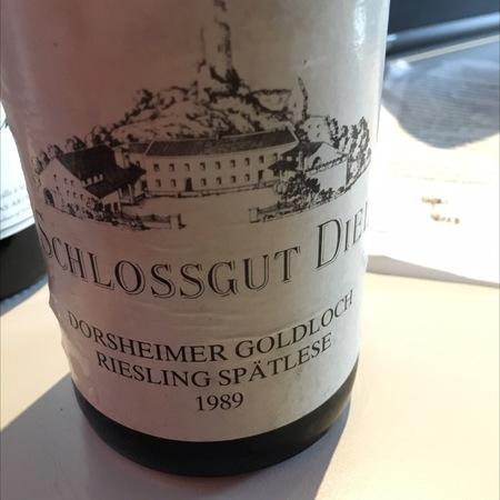 Schlossgut Diel Dorsheimer Goldloch Spätlese Riesling 2001