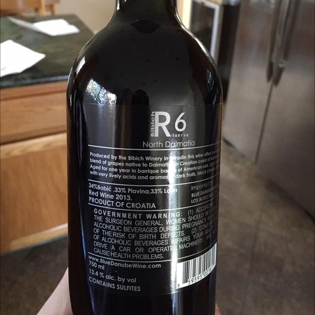 R6 Riserva Red Blend 2013