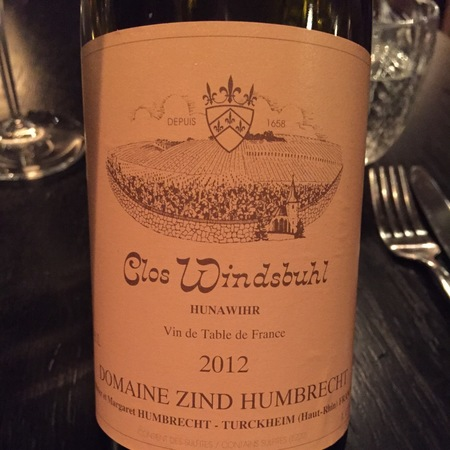 Domaine Zind Humbrecht Clos Windsbuhl Alsace Riesling 2012