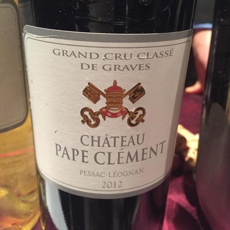 Château Pape Clément Pessac-Léognan Red Bordeaux Blend 2012