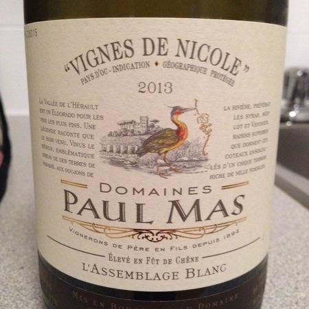Les Domaines Paul Mas Vignes de Nicole L'Assemblage Blanc 2015