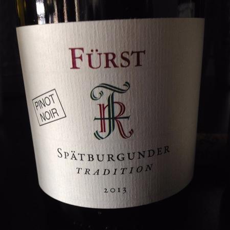 Rudolf Fürst Tradition Spätburgunder (Pinot Noir) 2013