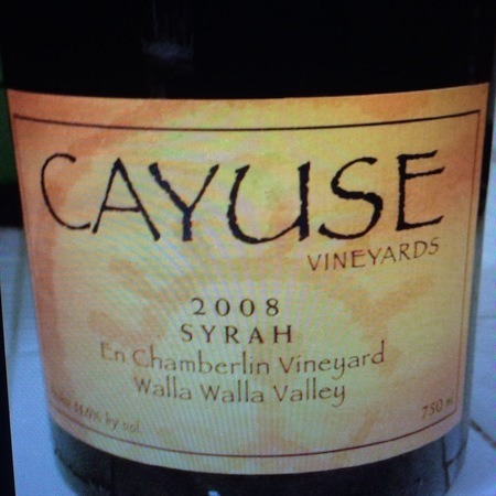 Cayuse Vineyards En Chamberlin Vineyard Syrah 2014