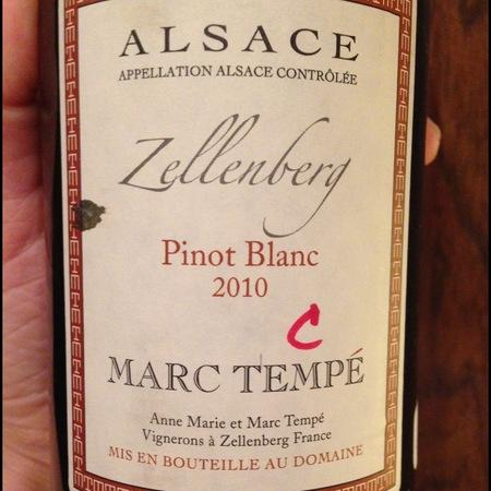 Marc Tempé  Zellenberg Pinot Blanc 2014