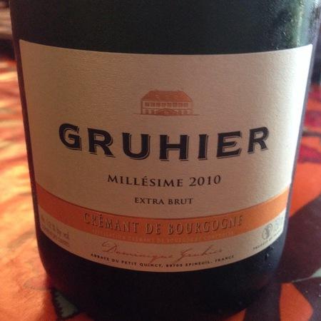 Domaine Dominique Gruhier Extra Brut Crémant de Bourgogne 2014