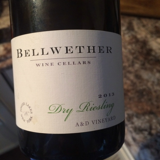 A&D Vineyard Finger Lakes Dry Riesling 2013