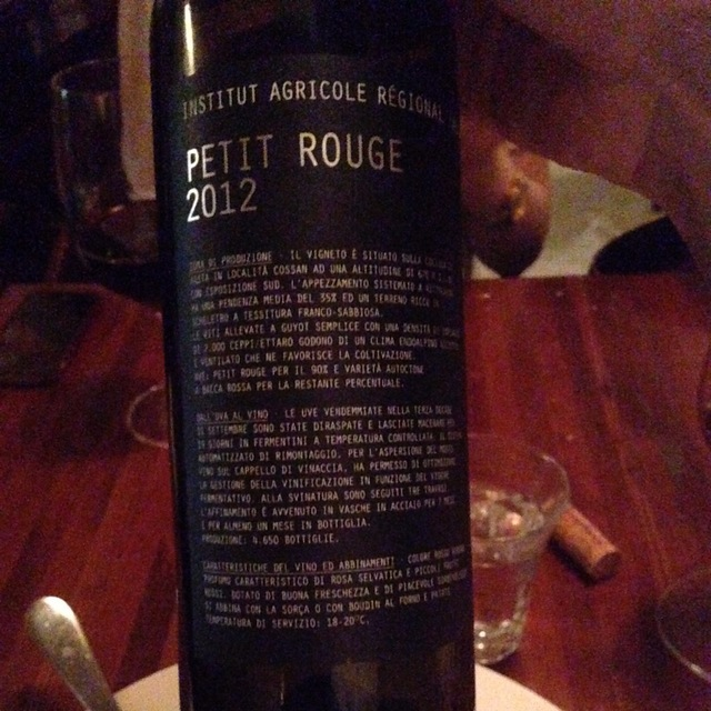 Valle d'Aosta DOC Petite Rouge 2013