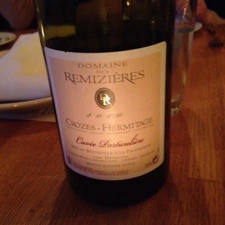 Domaine des Rémizières Cuvée Particulière Blanc Crozes-Hermitage Marsanne 2012