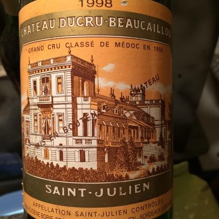 Château Ducru-Beaucaillou Saint-Julien Red Bordeaux Blend 1998