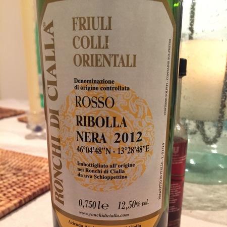 Ronchi di Cialla Friuli Colli Orientali Ribolla Nera 2012