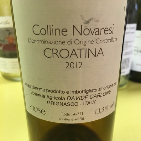 Davide Carlone Colline Novaresi Croatina 2012