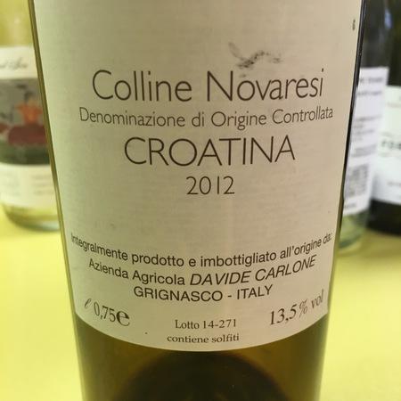 Davide Carlone Colline Novaresi Croatina 2012