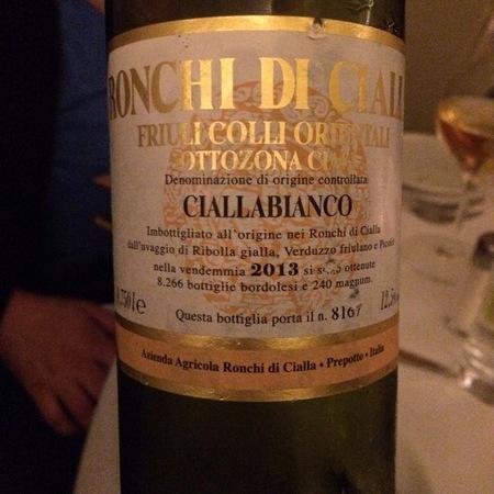 Ronchi di Cialla Colli Orientali del Friuli Cialla Bianco 2013