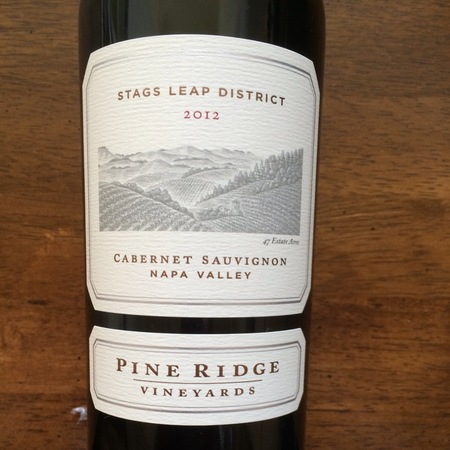 Pine Ridge Vineyards  Stags Leap District Cabernet Sauvignon 2012