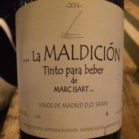 Marc Isart La Maldición Vinos de Madrid Tempranillo Blend 2015