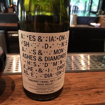 Ashes & Diamonds Winery Napa Valley Cabernet Franc 2014