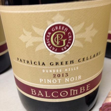 Patricia Green Cellars Balcombe Vineyard Pinot Noir 2015