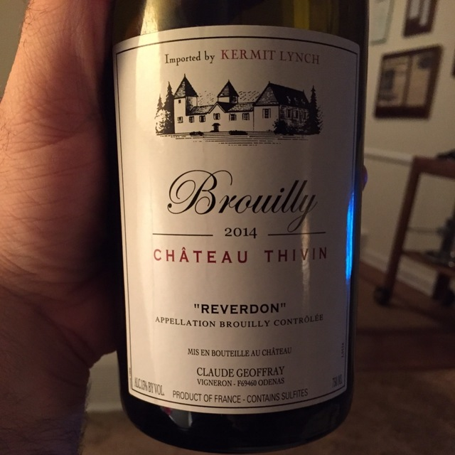 """Reverdon"" Brouilly Gamay 2014"
