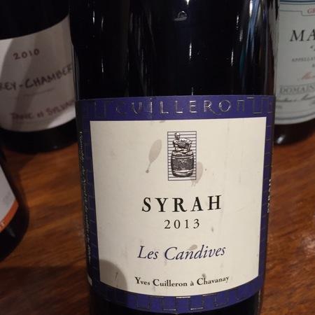 Yves Cuilleron Les Candives Vin de Pays des Collines Rhodaniennes Syrah 2016