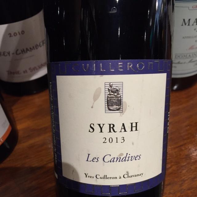 Les Candives Vin de Pays des Collines Rhodaniennes Syrah 2014