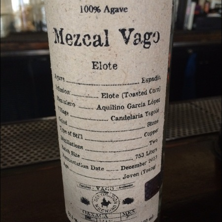Mezcal Vago Elote Mezcal Agave NV